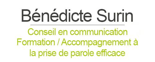 Bénédicte Surin - Conseil en communication et accompagnement à la prise de parole efficace